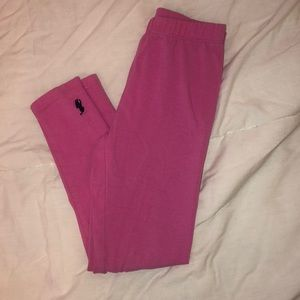 Pink polo leggings girls